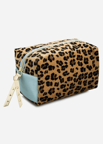 Animal Print Cosmetic Loaf Pouch Multi - Accessories