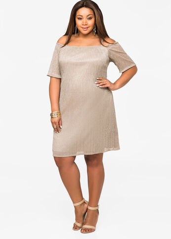 Shimmer Off-Shoulder Dress