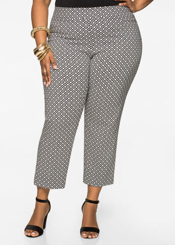 Geo Pull-On Ankle Pant