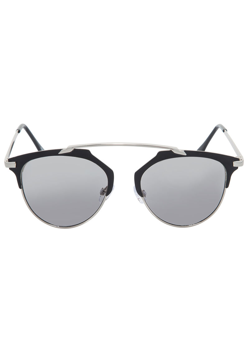 Semi-Rimless Clubmaster Sunglasses-Plus Size Accessories ...