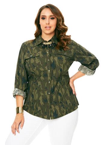 Camo Snap Button Shirt