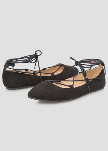Lace-Up Ballet Flat - Wide Width