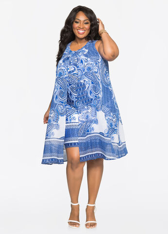 Paisley Flyaway Dress