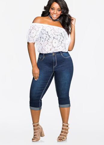 Cuffed Capri 5-Pocket Jean