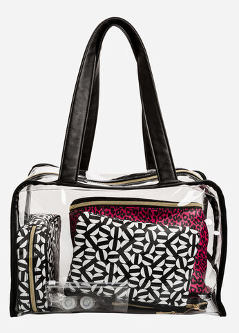 Going Abroad 8-Piece Travel Set Pink - Clearance