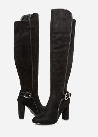 Suede Knee High Boot - Wide Calf, Wide Width