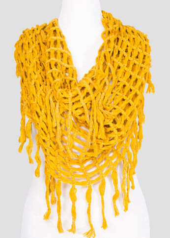 Oversized Crochet Infinity Scarf