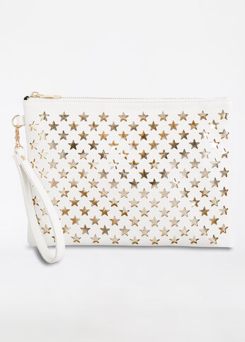Metallic Stars Cutout Clutch