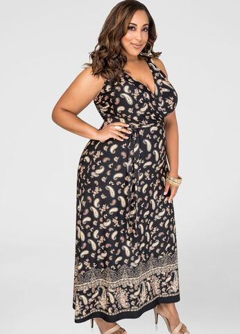 Racerback Paisley Maxi Dress