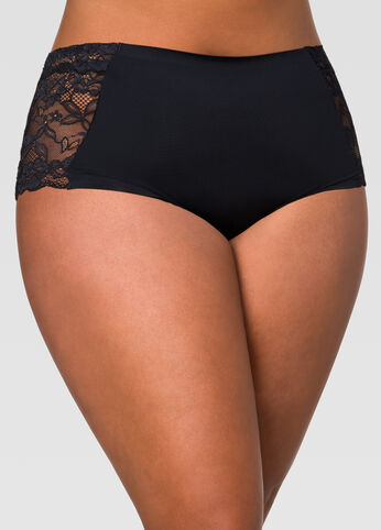 Lace Insert Micro Hipster Panty
