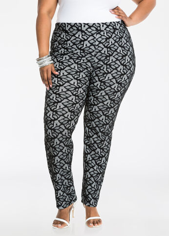 Lace Overlay Slim Leg Pant