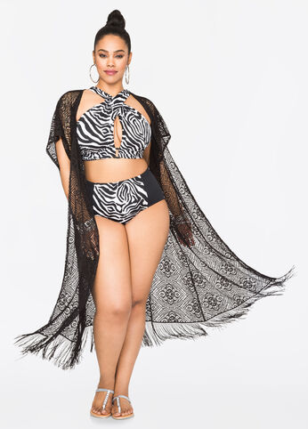 Plus Size Outfits - Zebra in Miami