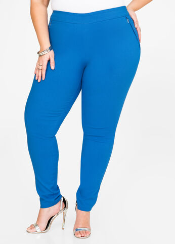 Ultra Stretch Zip Skinny Pant Victoria Blue - Bottoms