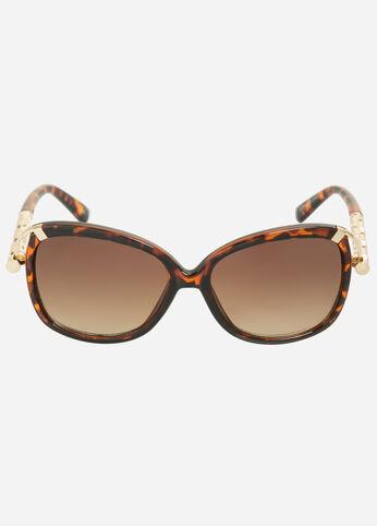 Embossed Square Sunglasses