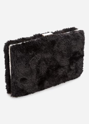 Faux Fur Box Clutch