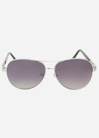 Rhinestone Aviator Sunglasses