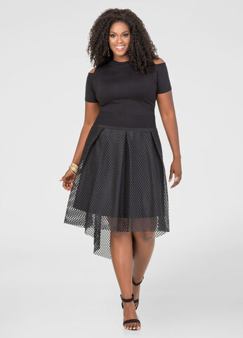 Hi-Lo Fishnet Skirt