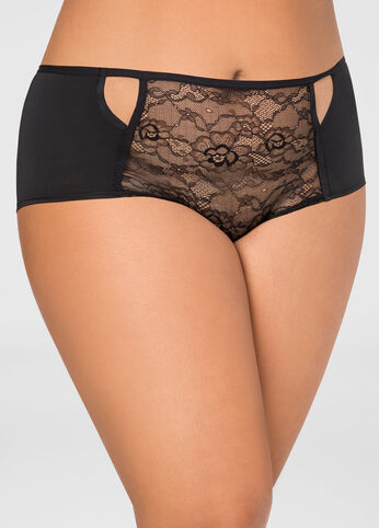 Lace Front Micro Hipster Panty