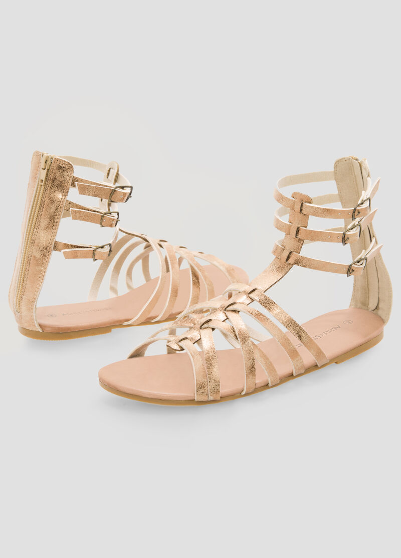 Womens sandals in wide width - Caged Gladiator Sandal Wide Width