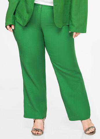 Scoop Pocket Linen Pant Medium Green - Bottoms