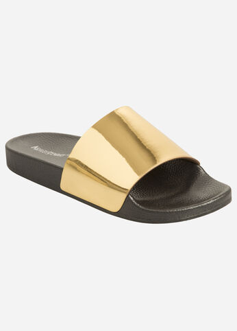 Riri Metallic Slide Sandal