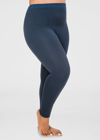 Footless Textured Seamless Legging