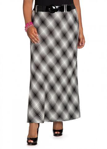 Bias Cut Plaid Skirt