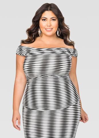 Striped Off-Shoulder Top