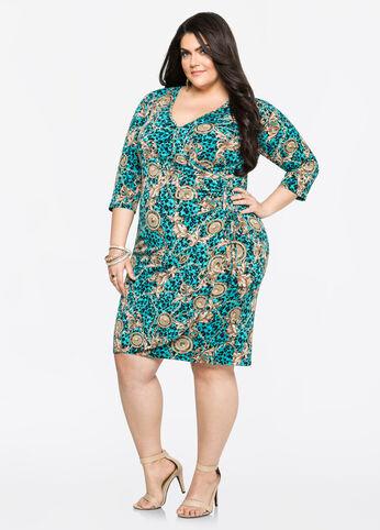 Status Grommet Lace-Up Side Dress Viridian Green - Dresses
