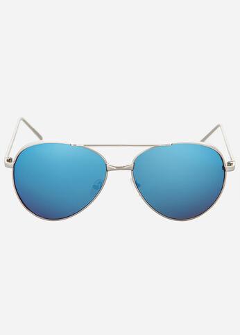 Reflective Mirror Lens Aviator Sunglasses