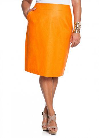 Coated Linen Skirt