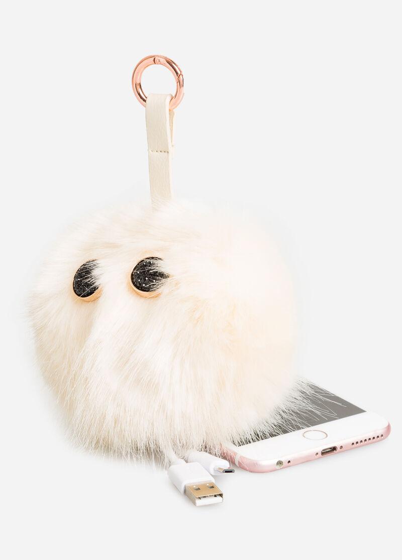 Plus Size Portable Charger Fur Pom Keychain 069 Tc50556n