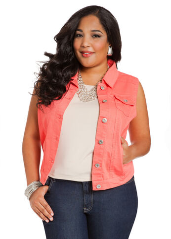 Colored Denim Vest