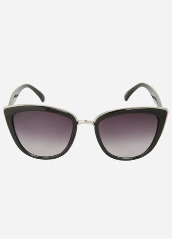 Metal Trim Cat Eye Glasses