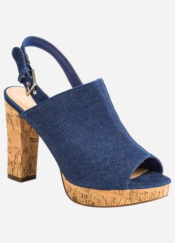 Cork Platform Sandal - Wide Width