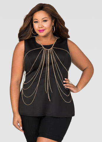 Body Chain Peplum Top