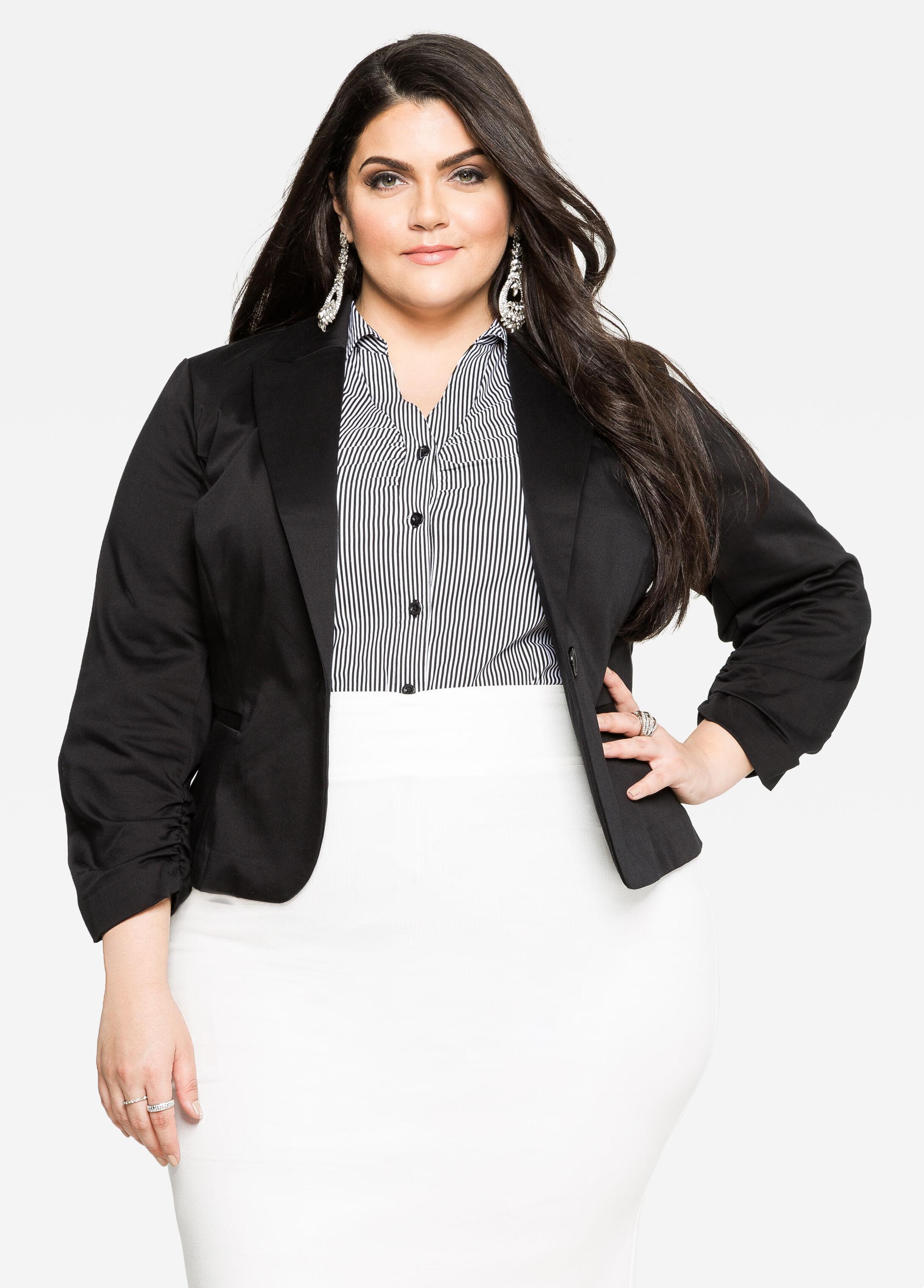 Buy Plus Size Black Blazer for Women - Ashley Stewart