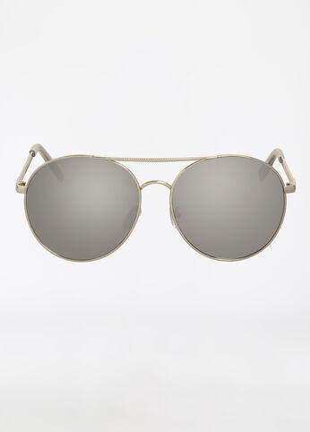 Round Frame Aviator Sunglasses
