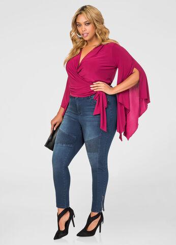 Seam Detail Zip Ankle Skinny Jean