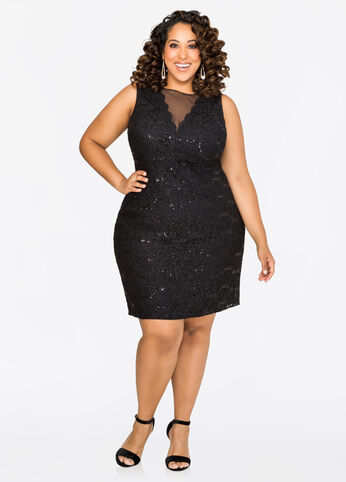 Metallic Lace Special Occasion Dress