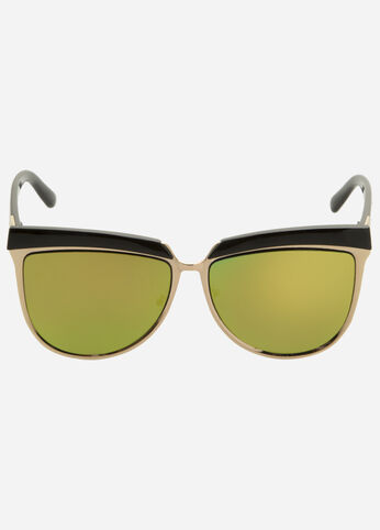 Oversize Square Mirrored Sunglasses