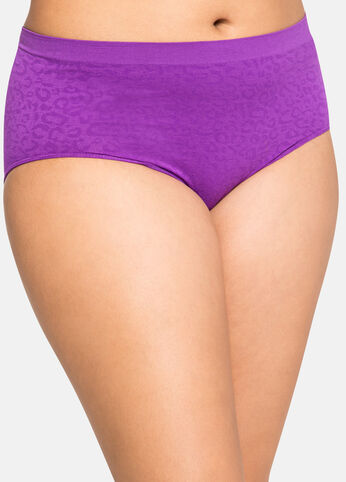 Leopard Jacquard Brief Panty Purple Magic - Intimates