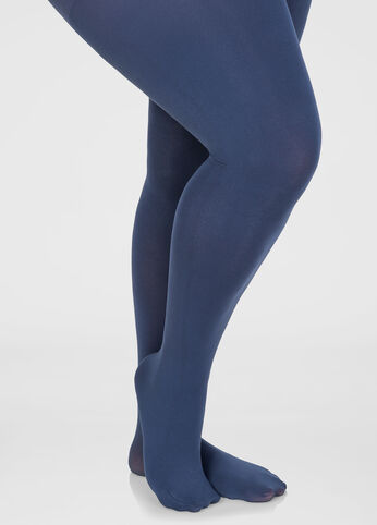 Footed Opaque Tights Navy - Clearance