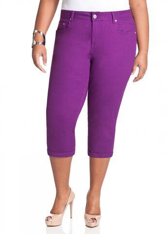 Purple Denim Capri