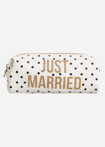 Bridal Barrel Cosmetic Case White - Clearance