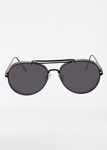 Edgy Aviator Sunglasses with Matte Frame
