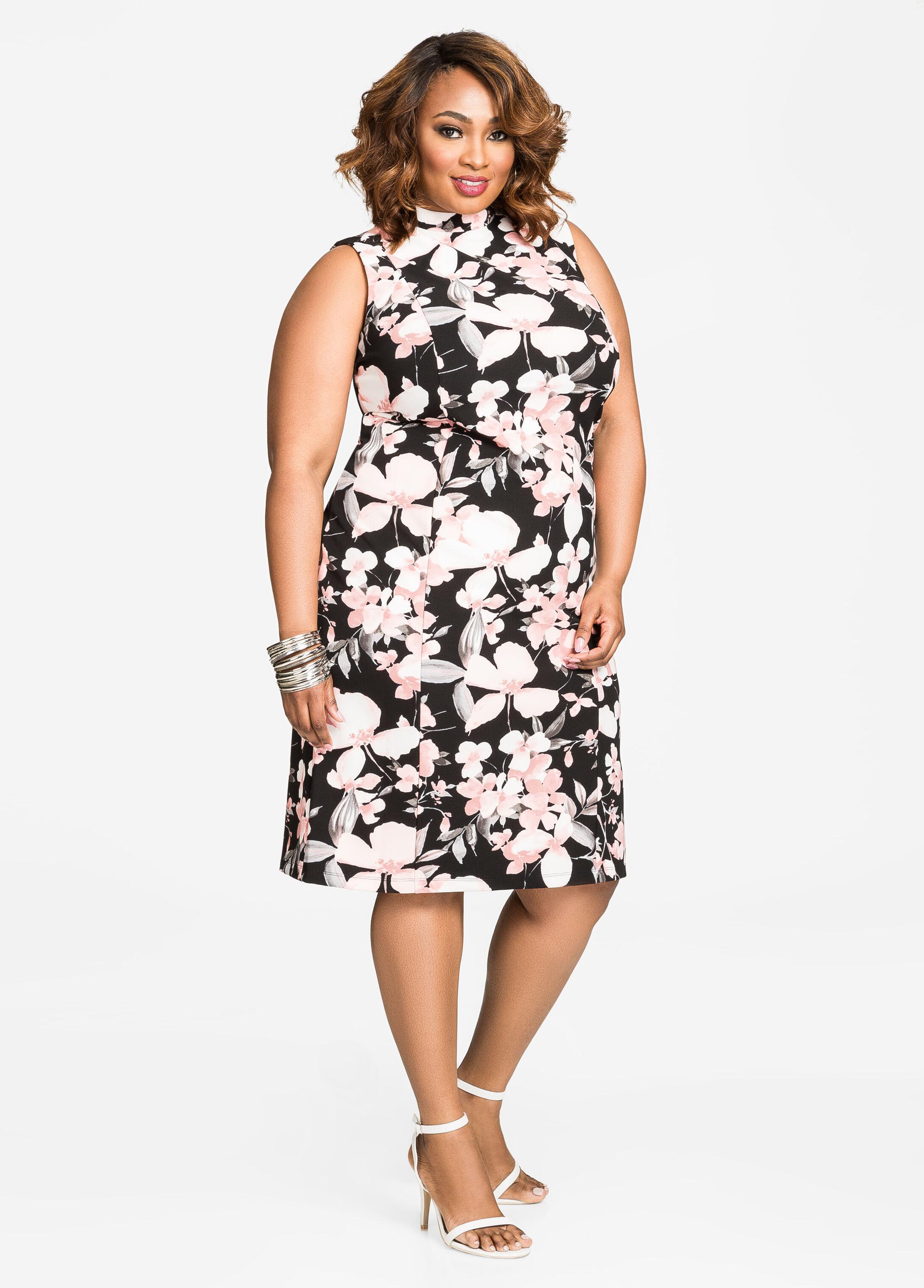 Buy Plus Size White Sheath Dress - Ashley Stewart