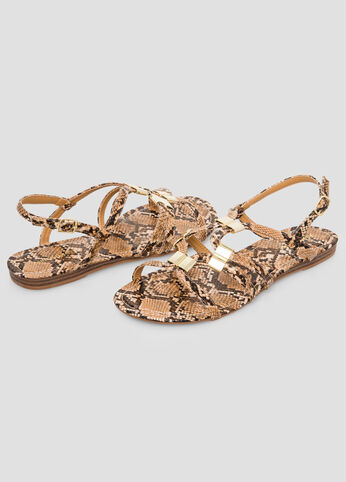 Snake Gladiator Sandal - Wide Width