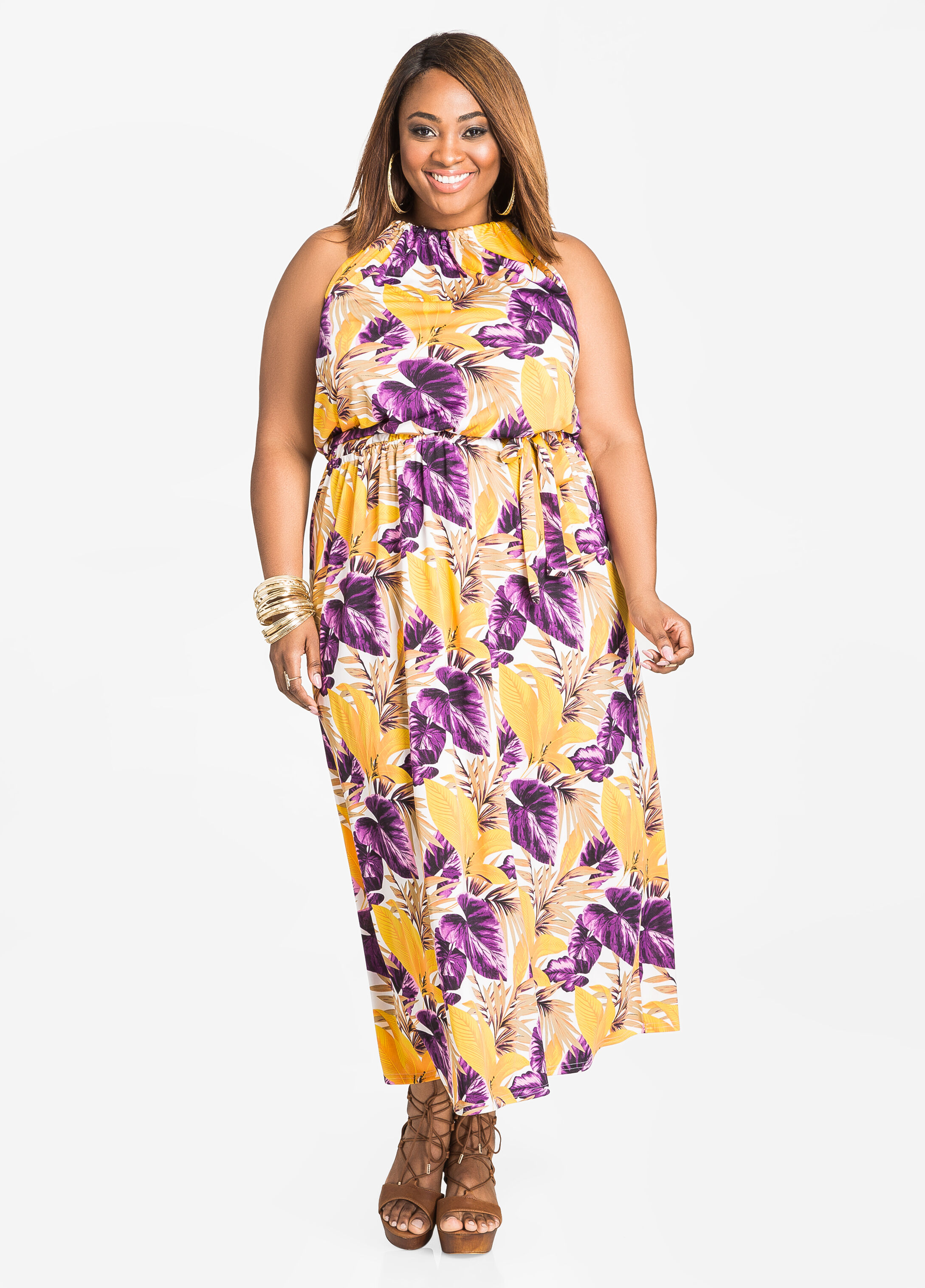 Buy Plus Size Halter Dresses for Women - Ashley Stewart