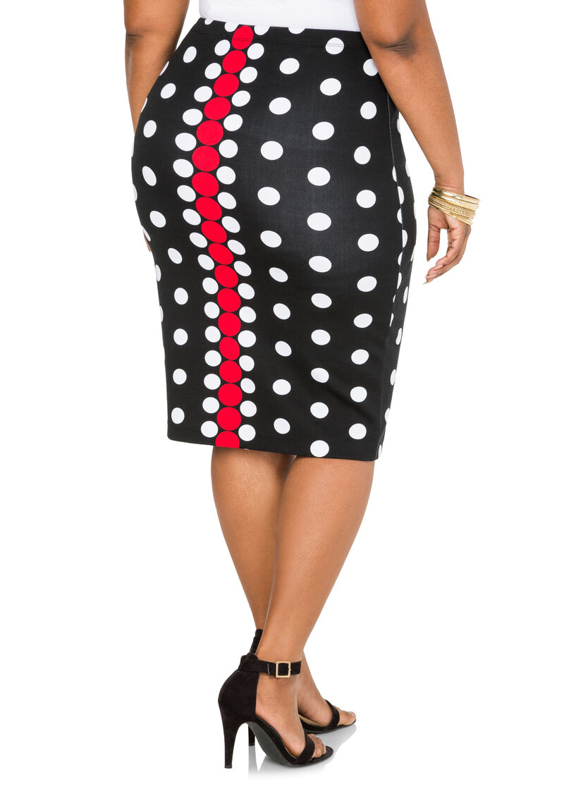 Trendy polka dot print knee length pencil skirt in a fitted style with a banded high waistline. See at Walmart. CONNEXITY. NMC Women's Polka dot print Knit Pencil Skirt Walmart $ NMC. Women's Polka dot print Knit Pencil Skirt $ at Walmart.